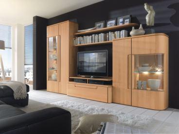 Kostenlose Lieferung Ins Deutsche Festland Wöstmann Wohnwand Cantana 3000  Kombination 1 Aus Massivholz Für Wohnzimmer 3 Teilig Ausführung Und Zubehör