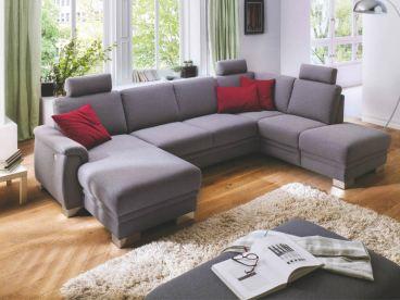 Carina 1040 Wohnlandschaft Fur Wohnzimmer Bezug In Leder Und Stoff