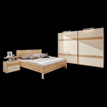 Disselkamp Cadiz Schlafzimmer Bett Nachtkommoden Schwebetürenschrank
