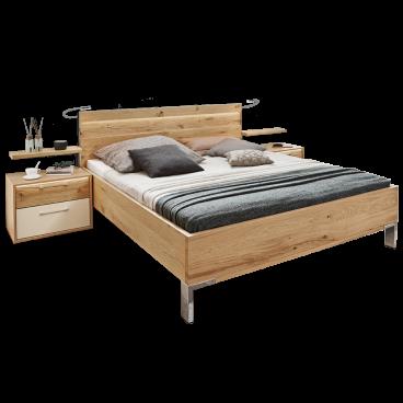 Disselkamp Cadiz Schlafzimmer Doppelbett Nachtkonsolen Wandsteckboards