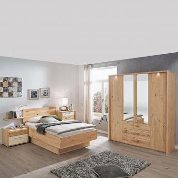 Disselkamp Cadiz Schlafzimmer Bett Nachtkonsole Schrank Balkeneiche