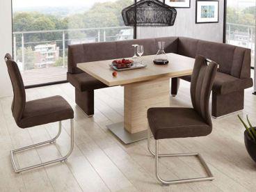 Niehoff Eckbankgruppe Pia Mit Tisch Und Zwei Stühlen