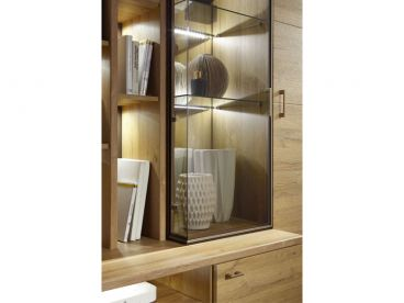 ideal m bel viert rige vitrine lara in grandson eiche holznachbildung. Black Bedroom Furniture Sets. Home Design Ideas