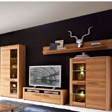 Kostenlose Lieferung Ins Deutsche Festland Innostyle TV Wohnwand Nature  Plus Komplett Mit 2 Vitrinen TV Unterteil Wandboard Inkl.