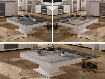 ... Mäusbacher Granny Couchtisch 0636_CT 80x80 Rechteckiger Tisch Mit  Funktion Und Stauraum Für Wohnzimmer Dekorausführung Wählbar
