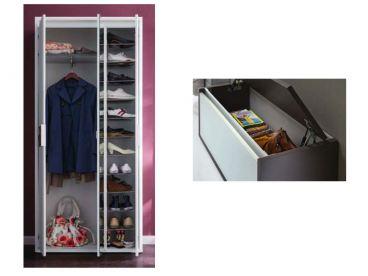 Wittenbreder merano muchele komplette garderobe zu outletpreis for Garderobe mit paneelen
