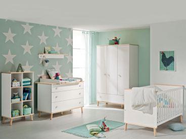 Paidi Ylvie Etagenbett 160 : Babyzimmer paidi ylvie teilig in weiß birke nachbildung erweiterbar