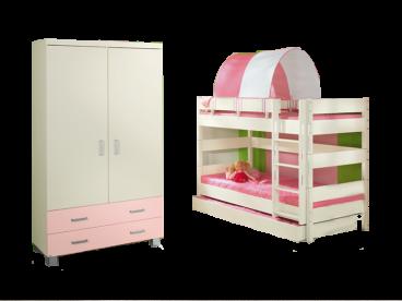 Etagenbett Kinderzimmer Paidi : Paidi biancomo etagenbett mit kleiderschrank und gästebett