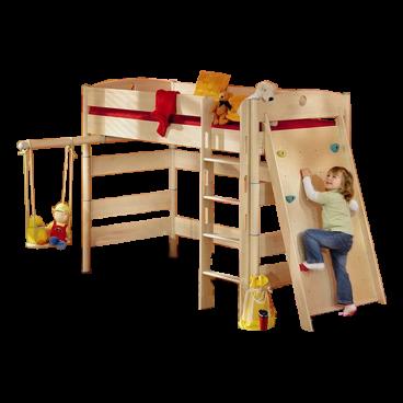 Kinderbett Fleximo Paidi Spielbett Mit Griffleiter Und Kletterwand