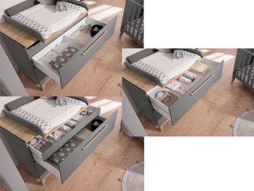 Paidi Sten 3 Teiliges Babyzimmer In Neuer Trendfarbe Grau