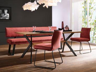 eckbank esszimmer schwarz, schösswender hochmoderne sitzbank mit schwarzen metallkufen, Design ideen