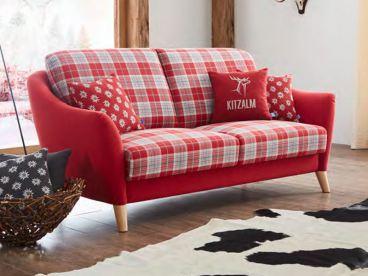 Kitzalm Kollektion Rotes Sofa Seefeld 2 5 Sitzig Urig Gemutlich