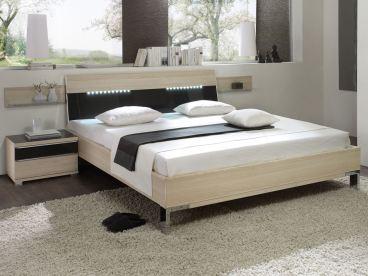 Staud Bett in Normalhöhe und Kopfteil 2 mit Beleuchtung möglich
