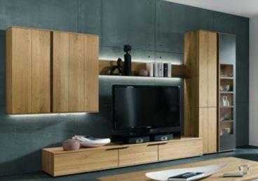 Thielemeyer avida wohnzimmer wohnwand 9 massiv treibholz design asteiche neu ebay - Schwebende wohnwand ...