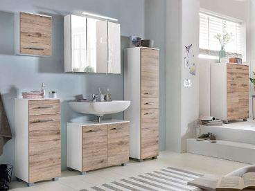W. Schildmeyer Möbel im Set 6-teilig für Badezimmer mit Spiegelschrank