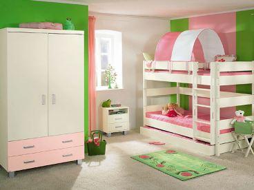 Etagenbett Zelt : Paidi biancomo etagenbett mit kleiderschrank und gästebett