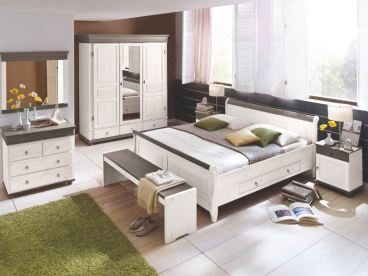 Euro diffusion oslo schlafzimmer 2 teilig massivholz kiefer - Schlafzimmer oslo ...