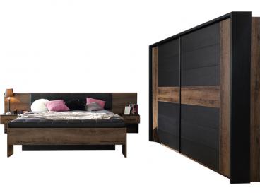 kostenlose lieferung ins deutsche festland forte bellevue schlafzimmer 4 teiliges set mit bettanlage ca 180x200cm inkl zwei nachtkommoden