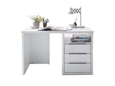Forte moderner Schreibtisch in Weiß matt mit Schubladen