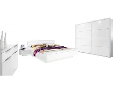 Kostenlose Lieferung Ins Deutsche Festland Forte Starlet Plus Schlafzimmer  Set In Weiß Hochglanz Mit Bettanlage (mit Sockelbeleuchtung Und  Leseleuchten)