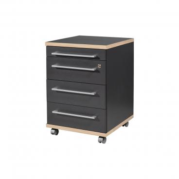 Sonoma Eiche Rollcontainer Bürocontainer GW-Power Rollkommode weiß