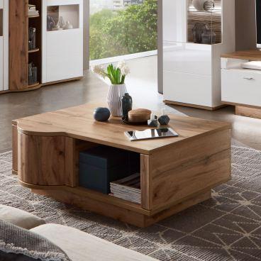 Ideal Möbel Magic Couchtisch 64 mit Drehkarussell und Fach Ausführung Wotan Eiche Nachbildung