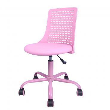 Drehstuhl für Mädchen pink myCHARLY gepolsterte Sitzschale und 360 Grad  drehbar Schreibtischstuhl für Schulanfänger