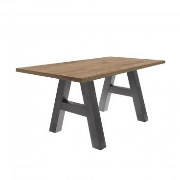 Mäusbacher The Big System Esstisch mit rechteckiger Tischplatte und A Gestell Tisch ohne Auszug mit wählbarer Größe Farbausführung und