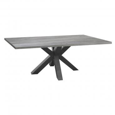 Mäusbacher The Big System Esstisch mit rechteckiger Tischplatte und Sterngestell Tisch ohne Auszug mit wählbarer Größe Farbausführung und