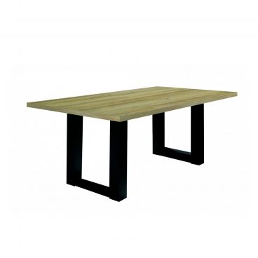 Mäusbacher The Big System Esstisch mit rechteckiger Tischplatte und U Gestell Tisch ohne Auszug mit wählbarer Größe Farbausführung und