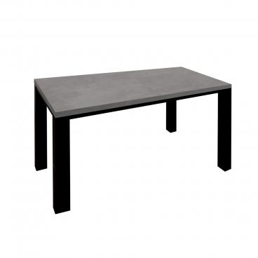 Mäusbacher The Big System Esstisch mit rechteckiger Tischplatte mit gerader Kante und Vierfußgestell in Schwarzstahl Dekor Tisch ohne Auszug mit