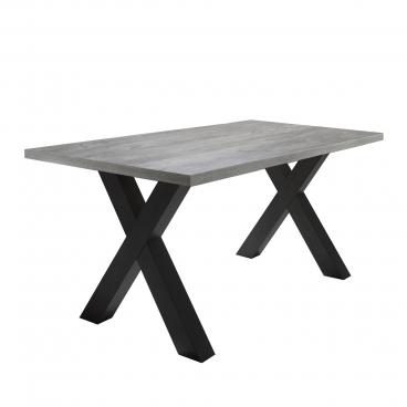 Mäusbacher The Big System Esstisch mit rechteckiger Tischplatte und X Gestell Tisch ohne Auszug mit wählbarer Größe Farbausführung und