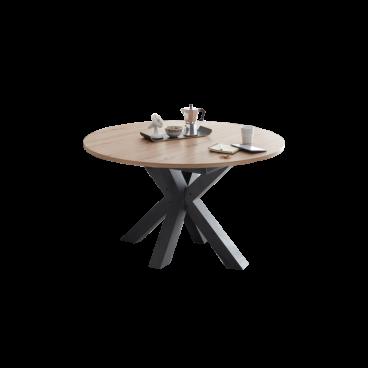 Mäusbacher The Big System Rund Esstisch mit Sterngestell und Auszugsfunktion Rundtisch mit wählbarer Größe und Farbausführung Tisch für Ihr Esszimmer