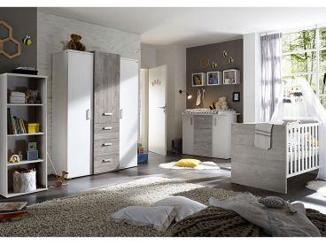 Mausbacher Babybett Im Dekor Weiss Matt Vintage Wood Grey