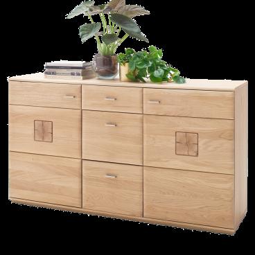 Mca Furniture Bologna Sideboard Eiche Bianco Teilmassiv Mit Hirnholz