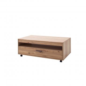 MCA Furniture Portland Couchtisch POR17T65 mit Rollen für Ihr Esszimmer  oder Gästezimmer Wohnzimmertisch ca. 115 x 65 cm in Asteiche bianco mit  einem ...
