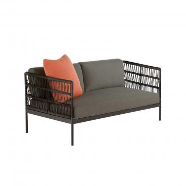 Niehoff Lounge Sofa Mit Kordelgeflecht Und Polsterauflagen Für Garten