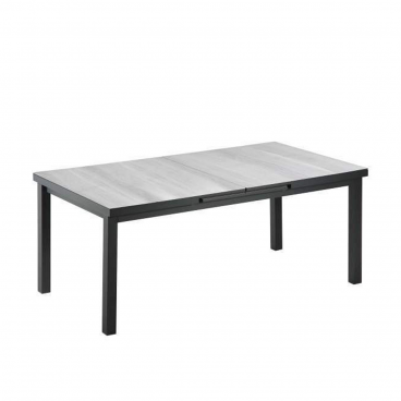 Niehoff Praktischer Gartentisch Mit Auszug Und Glaskeramikplatte Grau