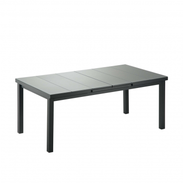 Niehoff Praktischer Gartentisch Mit Auszug Und Glasauflage In Grau