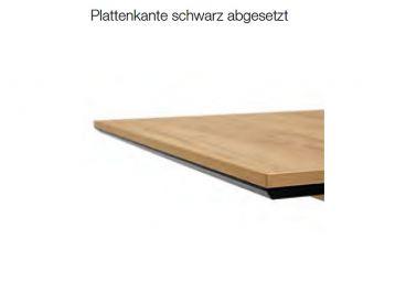 Niehoff Esstisch Milton 1793 Ausziehtisch mit Mittelauszug Esstisch in Dekor Struktureiche terra Tisch für Esszimmer mit V Säule Größe wählbar