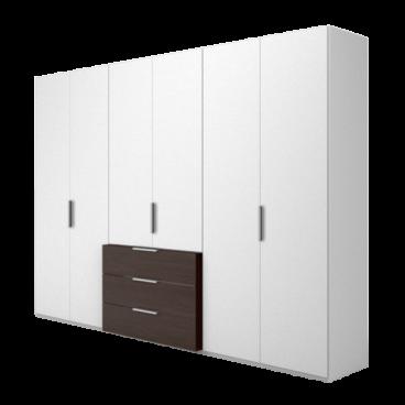 Nolte Möbel Concept me 220 Drehtüren-Komplettschrank mit vorgezogenem  Schubkastenblock Ausführung in Dekor Farbe wählbar optional mit  LED-Beleuchtung ...