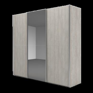 Nolte Möbel Marcato 2.2 Schwebetürenschrank Ausführung 2 mit 3 waagerechten  Sprossen mit Front A in Glas oder Grauspiegel und Front B in Dekor ...