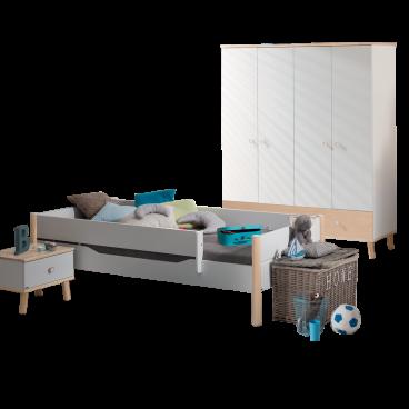 Kinderzimmer Paidi Ylvie 3- teilig in weiß Birke Nachbildung erweiterbar
