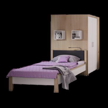 Fabulous Priess Luna Schlafzimmer mit begehbarem Eckschrank und Futonbett TX72