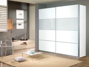 Schwebet renschrank quadra rauch alpinwei grau glas ebay for Schrank quadra