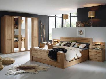 Rauch Steffen Sitara Schlafzimmer 4- teilig bestehend aus Komfortbett mit 2  Sockelschubkästen Nachtischkommoden und Drehtürenschrank Farbausführung ...