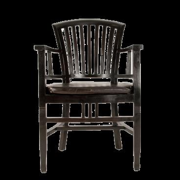 Sit Möbel SAMBA Armlehnstuhl aus Holz Mahagoni massiv im Antikfinish