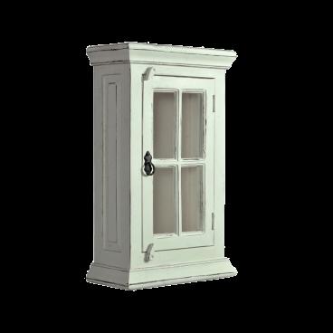Sit Möbel Toledo Hängeschrank Mit Glastür Antikweiß Aus Mangoholz Und Mdf