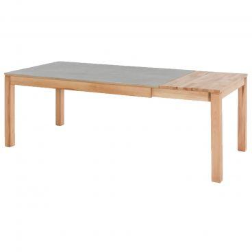 Standard Furniture Esstisch Fano 1XL Dekton mit Gestellauszug und Massivholzeinlage Tischgröße und Holz sowie Dektonausführung wählbar
