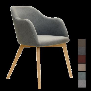 Standard Furniture Polsterstuhl Theo 1 mit Holzbeinen Polsterstuhl für Esszimmer Bezug wählbar